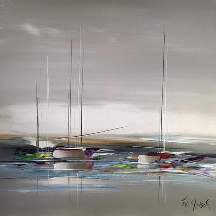Eric Munsch L'étendue maritime 100 x 100 cm