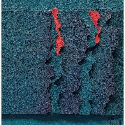 Gérard Clisson DEUX TRACES ROSES 13 x 13 cm