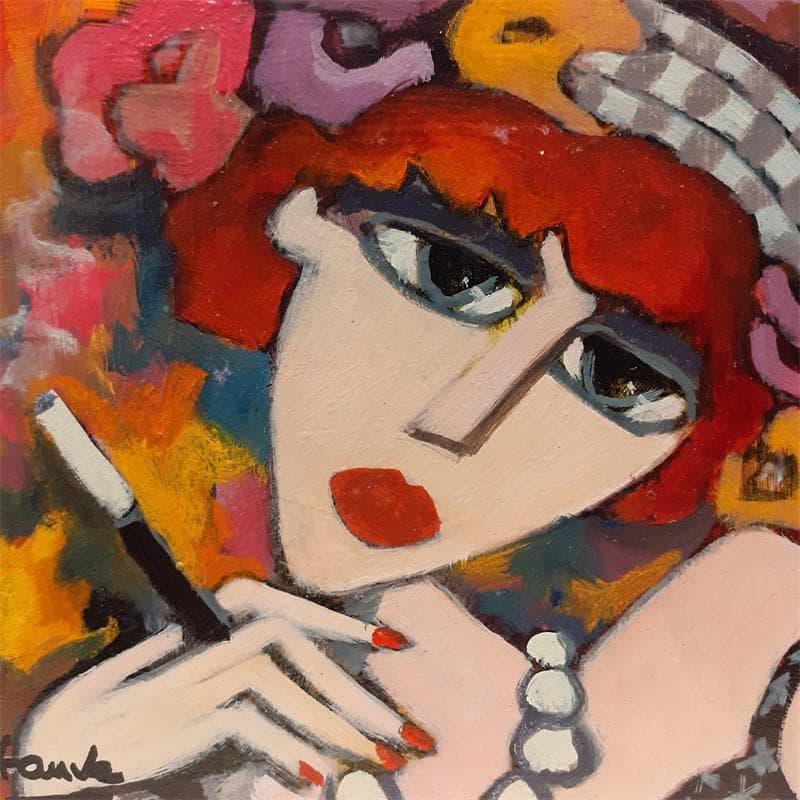 Femme au fume cigarette