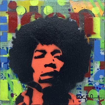 Philippe Euger Jimi Hendrix 13 x 13 cm