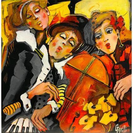 Nicole Garilli Partage en musique 50 x 50 cm