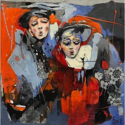 Nicole Garilli Les mots bleus 100 x 100 cm