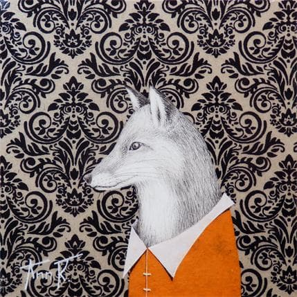 Ann R FOX 13 x 13 cm