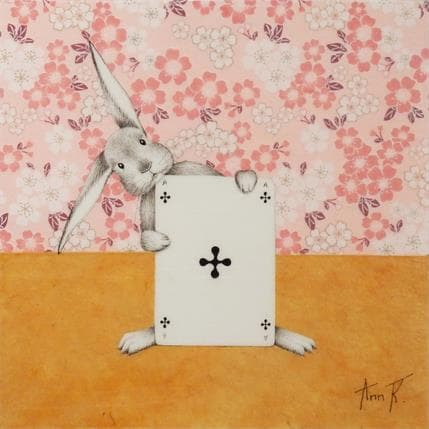 Ann R LUCKY RABBIT 25 x 25 cm