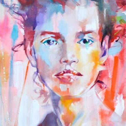 Monica Abbondanzia In red 36 x 36 cm
