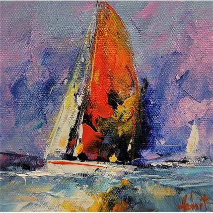 Hébert Franck Bateau blanc 13 x 13 cm