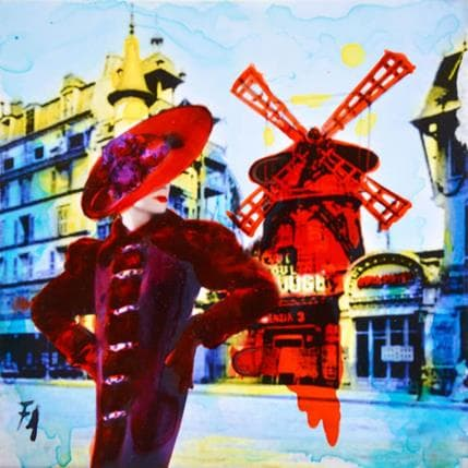 Félix Aberasturi The Moulin Rouge's girl 13 x 13 cm