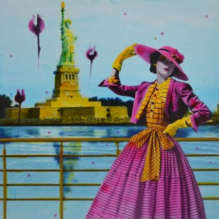 Aberasturi Félix Je suis à New York 25 x 25 cm