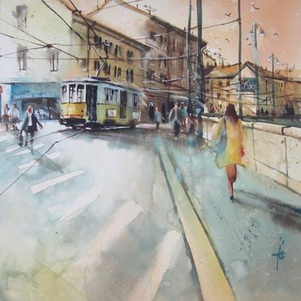 Violaine Abbatucci Elle revenait toujours par Naviglio 36 x 36 cm