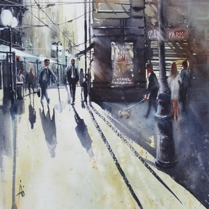 Violaine Abbatucci Milano city 36 x 36 cm