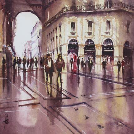 Violaine Abbatucci Dans les reflets de la galerie 25 x 25 cm
