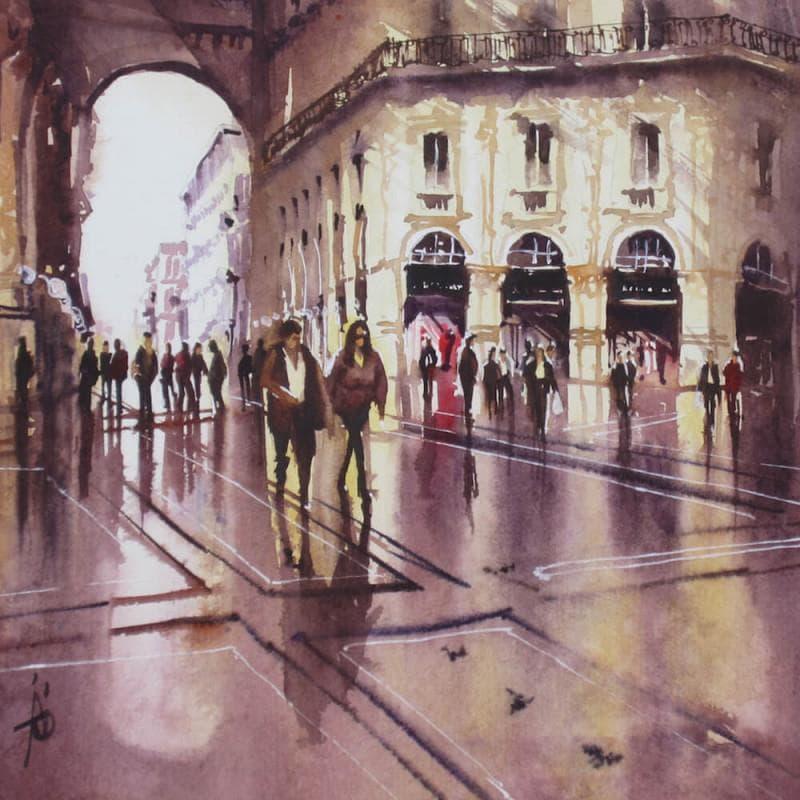 Dans les reflets de la galerie