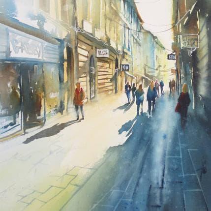 Violaine Abbatucci Flânerie par les rues piétonnes 36 x 36 cm