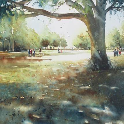 Violaine Abbatucci La grande prairie au parc 36 x 36 cm