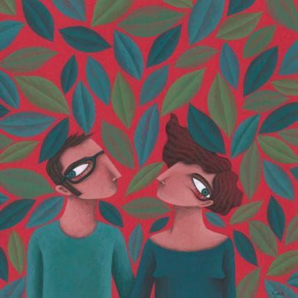 Gemma Aguasca Sole Cita en el jardi botanic 25 x 25 cm