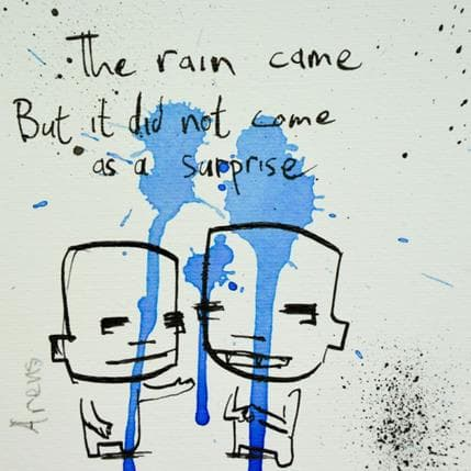 Jan Hein Arens Rain 13 x 13 cm