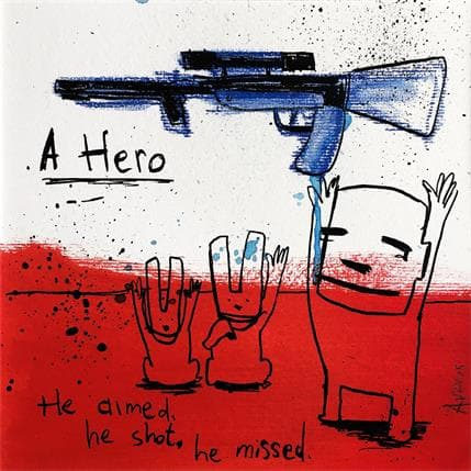 Jan Hein Arens A hero 19 x 19 cm