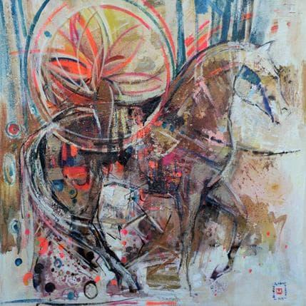 De Secondigné Le grand cheval 80 x 80 cm
