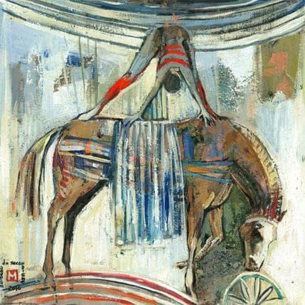 De Secondigné Des rouges en équilibre 36 x 36 cm