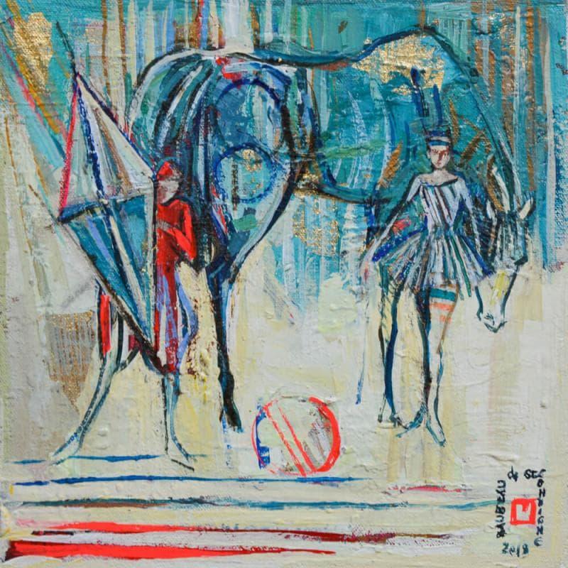 Mon cheval bleu
