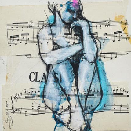 Laurent Bergues Femme bleue 19 x 19 cm