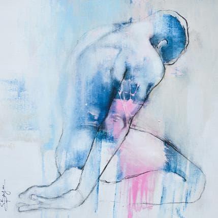 Bergues Laurent Homme bleu 36 x 36 cm