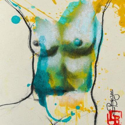 Laurent Bergues Buste femme 13 x 13 cm