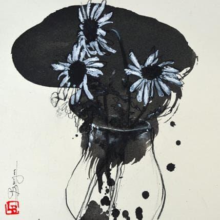 Laurent Bergues Marguerites 25 x 25 cm