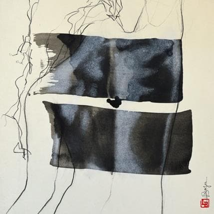Laurent Bergues Dos femme 36 x 36 cm