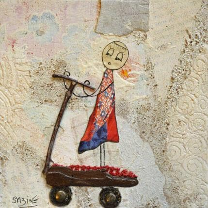 Sabine Bourdet A trottinette 13 x 13 cm