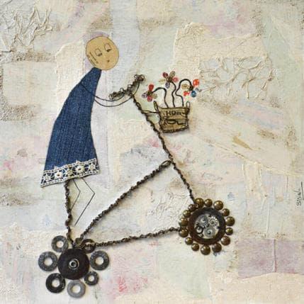 Sabine Bourdet A bicyclette 36 x 36 cm