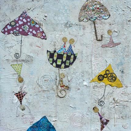 Sabine Bourdet Les parapluies 36 x 36 cm