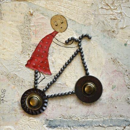 Sabine Bourdet Mon petit vélo 13 x 13 cm