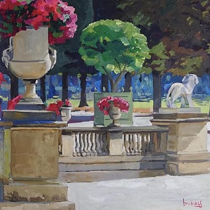 Brooksby Lion in the park 36 x 36 cm