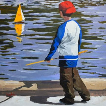 Brooksby Yellow boat 36 x 36 cm