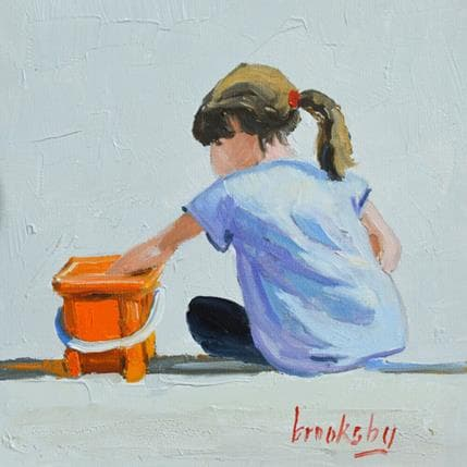 Brooksby Orange bucket 13 x 13 cm
