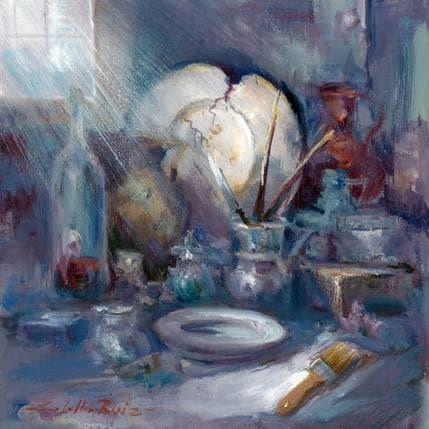 Jose Cabello Ruiz Trastos en mi estudio 25 x 25 cm