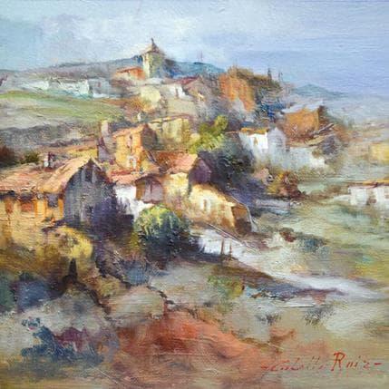 Jose Cabello Ruiz Mi pueblo 25 x 25 cm