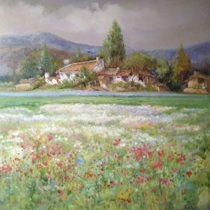 Jose Cabello Ruiz Campo florido 100 x 100 cm