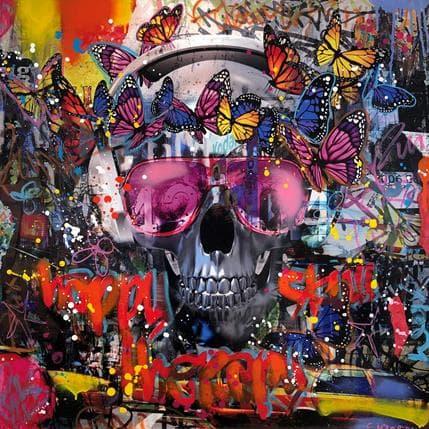 Fabien Novarino Urban skull 80 x 80 cm