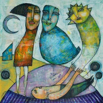 Dan Casado Moon and sun 25 x 25 cm