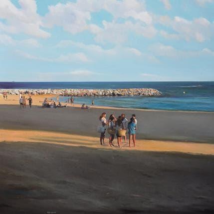 Sergi Castignani Gossip à la plage 100 x 100 cm