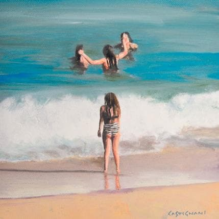 Sergi Castignani Beach people 01 19 x 19 cm