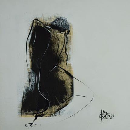 Martine Chaperon Noir et blanc 36 x 36 cm