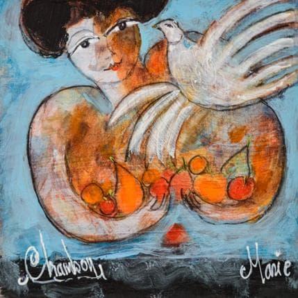 Michel Chambon Marie et l'oiseau 13 x 13 cm