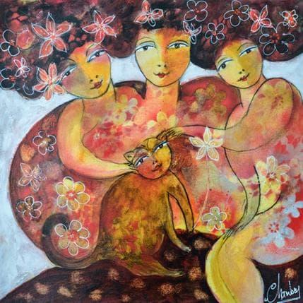 Michel Chambon Les trois filles 36 x 36 cm