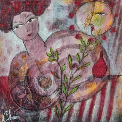 Michel Chambon Roselle 19 x 19 cm