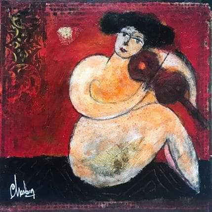 Michel Chambon La violonalliste 19 x 19 cm