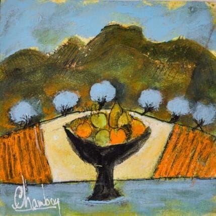 Michel Chambon Coupe aux fruits 13 x 13 cm