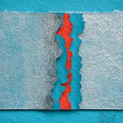 Gérard Clisson Argent bleu 13 x 13 cm